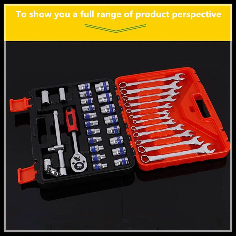 Metric Tool Set Ratchet Wrench Hardware Tools Screwdriver Kit Combination Tool (37pcs) xkai 14pcs 6 19mm ratchet spanner combination wrench a set of keys ratchet skate tool ratchet handle chrome vanadium