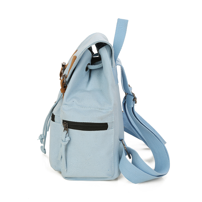 bc728670c5 HANEROU Preppy Style Canvas School Bags For Teenage Girls Solid Backpacks  Fashion Women Bag Collage String Back Bag Mochila-in Backpacks from Luggage    Bags ...