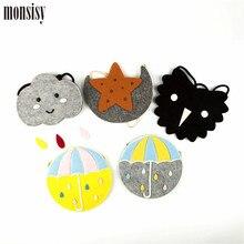 Monsisy Girl Coin Purse Children's Wallet Small Change Purse Kid Bag Coin Pouch Money Holder Cartoon Cloud/Moon Baby Handbag