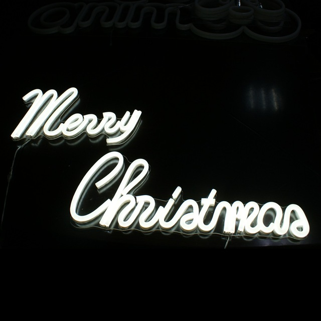 oem neon sign boardmerry christmas lighting