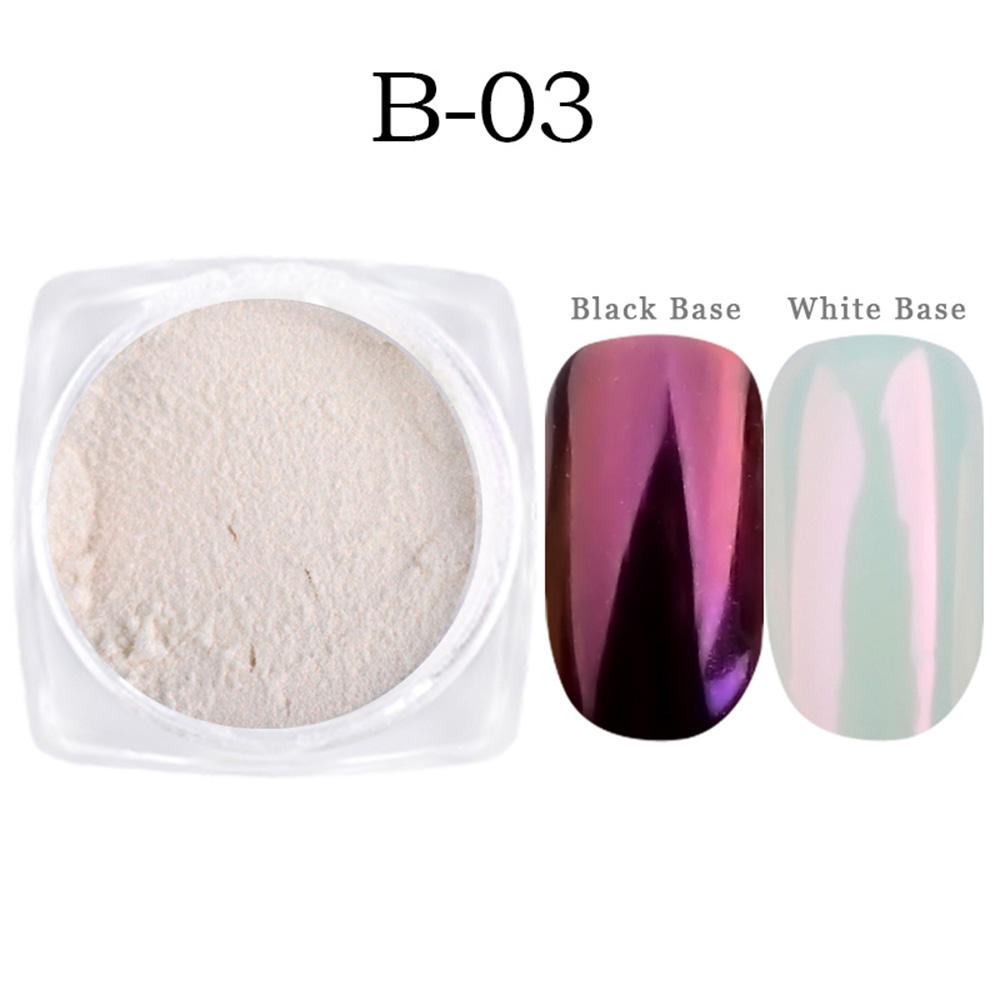 Image 5 - 1g Shinning Aurora Magic Mirror Chrome Nail Art Glitter Powder Colorful Pigment Flakes Dust Decoration Manicure Tips JIB01 07-in Nail Glitter from Beauty & Health