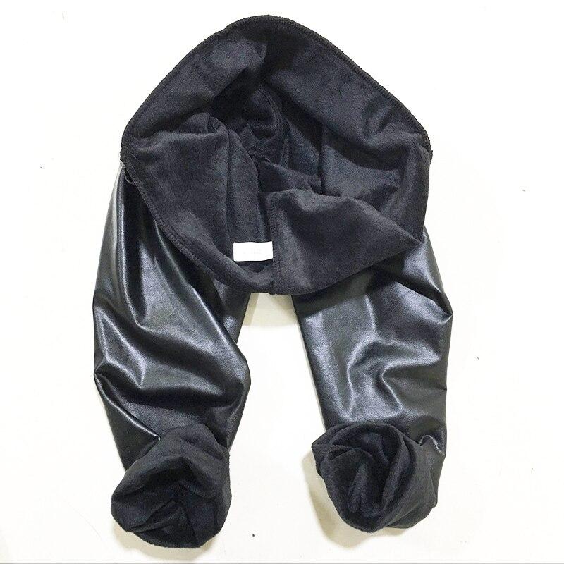 New Winter Leggings Warm Legging Thickening Sexy Black Leather Pants High Waist Plus Size Velvet Solid