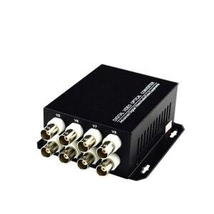 Image 2 - Цифровой видео оптический преобразователь 8CH волоконный медиа передатчик приемник для CCTV камер системы безопасности