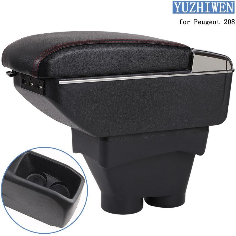 Für Peugeot 208 Armlehne Box Peugeot 208 Universal Auto Zentrale Armlehne Lagerung Box tasse halter aschenbecher änderung zubehör