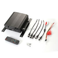 New 4Ch Channel Car Kit And Hard Disk HDD Vehicle Car Video Recorder Mobile DVR
