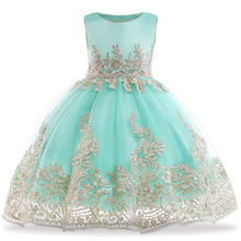 Embroidery Party Dresses for Girls Elegant Toddler Princess