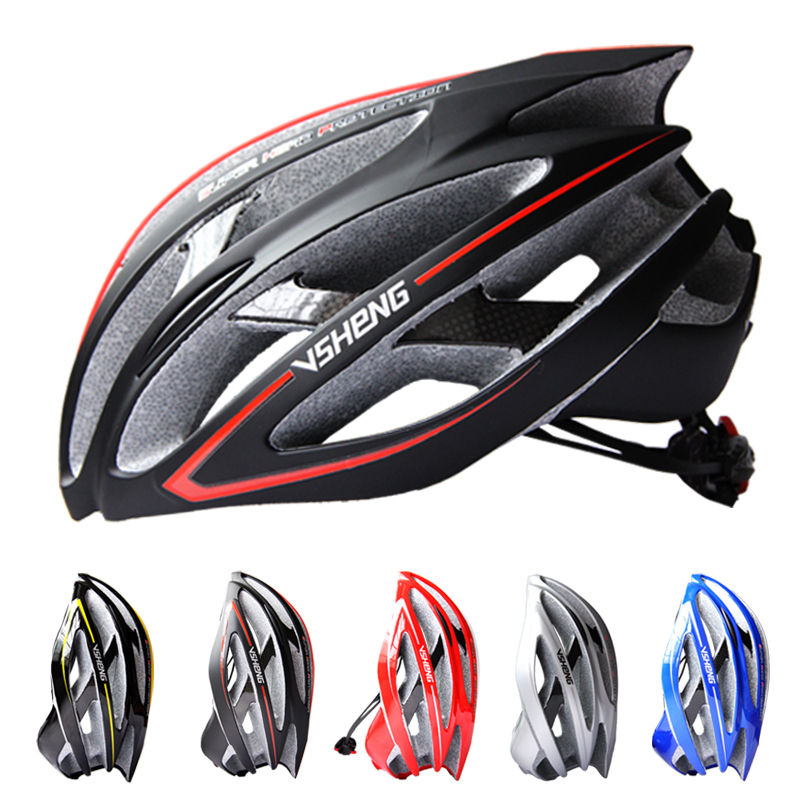 VSHENG Carbon Ultralight Bicycle Helmet Cycling Helmet Integrally-molded Road MTB Bike Equipment Bike Helmet Capacete Casco V300 mtb road bike bicycle cycling sports carbon helmet