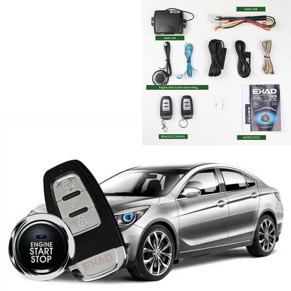 Alarme de voiture système d'entrée sans clé boton start stop shérif de voiture magicar de sécurité téléphone portable télécommande alarme de voiture système MP913