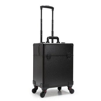 eaad16f2a Trolley caso cosmético equipaje profesión maleta para maquillaje carro caja  uñas belleza Mujer equipaje de viaje, bolso cosmético, ...