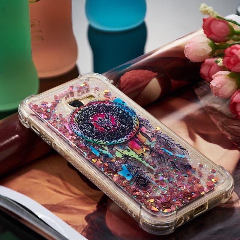 Liquid Soft <font><b>Case</b></font> For Samsung Galaxy A3 A5 A7 2016 2017 A720 A520 A8 Plus 2018 S9 Cover A510 <font><b>Quicksand</b></font> Shell