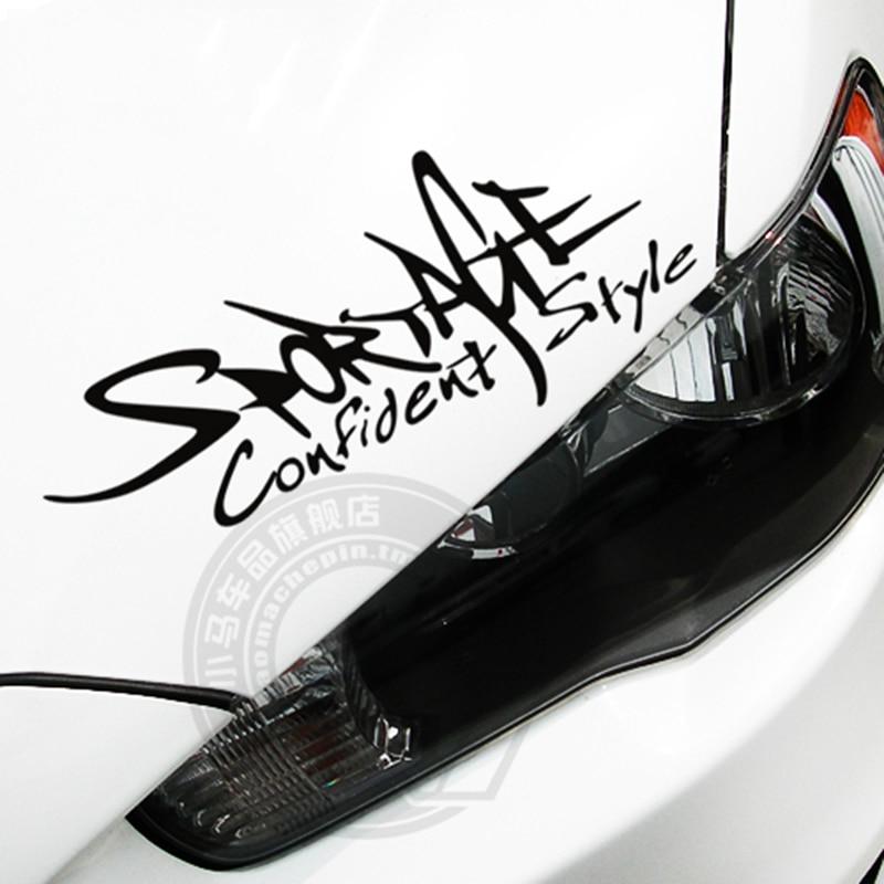 Стайлинга автомобилей спорт персонализированные модификация автомобиля стикер светоотражающие большой размер для светлых бровей и боковые двери и крышка двигателя