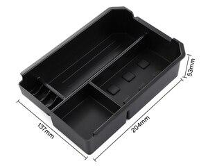 Image 4 - Compartimento de reposabrazos para coche almacenamiento secundario, guantera Central, soporte para teléfono, bandeja contenedor para Toyota RAV4 RAV 4 2013 2014 2015 2016