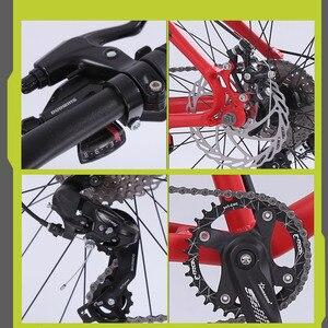 Image 3 - ウルフの牙自転車マウンテンバイク道路脂肪バイクバイクの速度 26 インチ 8 速度自転車男アルミ合金フレーム送料無料