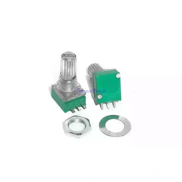 50pcs/lot RK097N 5K 10K 20K 50K <font><b>100K</b></font> 500K B5K with a switch <font><b>audio</b></font> 3pin shaft 15mm amplifier sealing <font><b>potentiometer</b></font> In Stock image