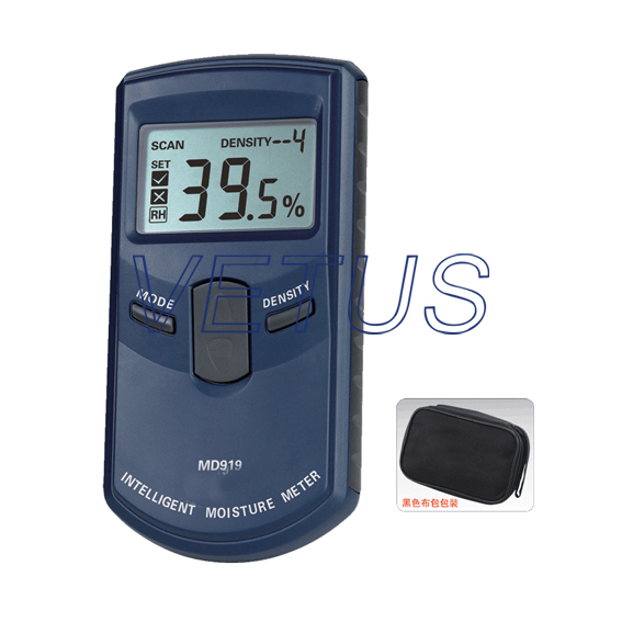 MD919 4%~40%RH Digital Paper Moisture Meter digital indoor air quality carbon dioxide meter temperature rh humidity twa stel display 99 points made in taiwan co2 monitor