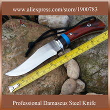 DT086 cheap handmade knife 9Cr18MOV steel blade wood handle hunting knife camping knife tactical knifes military army