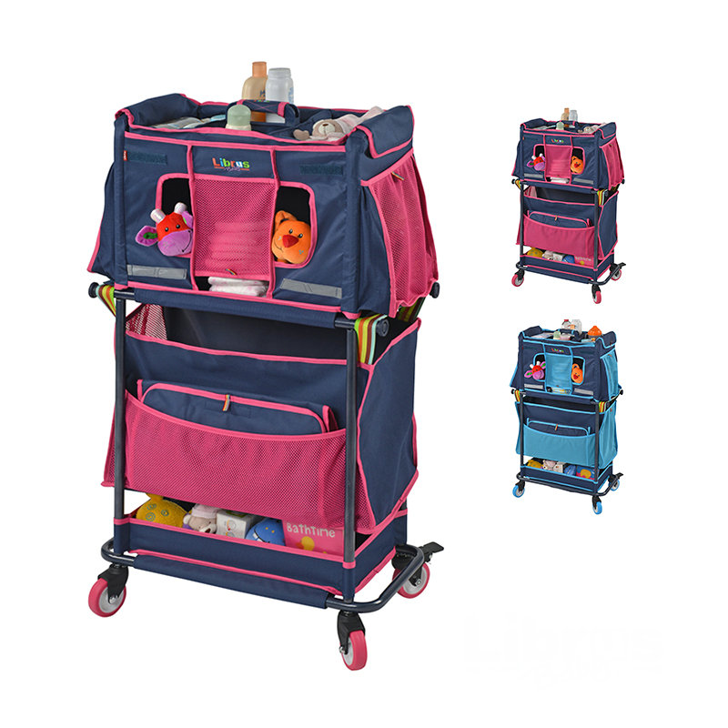 practical newborn baby care stroller big storage space mom's essential cart with universal wheel multifunctional baby nurse cart essential newborn care practices among the mothers of nepal