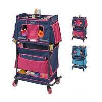 practical newborn baby care stroller big storage space mom's essential cart with universal wheel multifunctional baby nurse cart