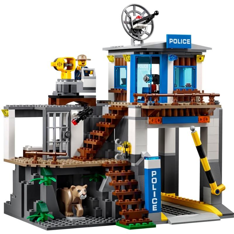 Ville Série La Montagne Police Siège Ensemble LegoINGlys 60174 Blocs de Construction Briques Jouets Modèle Pour Enfants Comme Cadeaux dropshipping