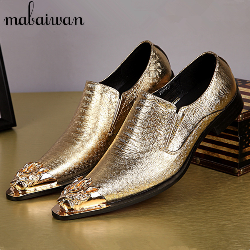 Online buy wholesale gold dress shoes men from china gold for Gold dress shoes for wedding