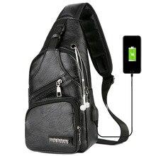 лучшая цена Male Shoulder Bags USB Charging Crossbody Bags Men Anti Theft Chest Bag School Summer Short Trip Messengers Bag 2019 Single Bags