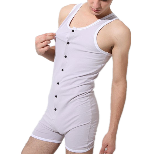 Sexy Men Bodysuit Gay Penis Pouch Man Body Suits Brand Superbody Sexy Man  Bodywear Bodybuilding Cotton Sport Tank Top Singlets 1c016e073
