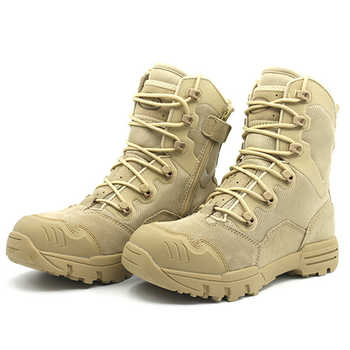 Winter Men Military Boots Leather Special Force Desert Tactical Combat Army Boots Men\'s Safty Work Shoes
