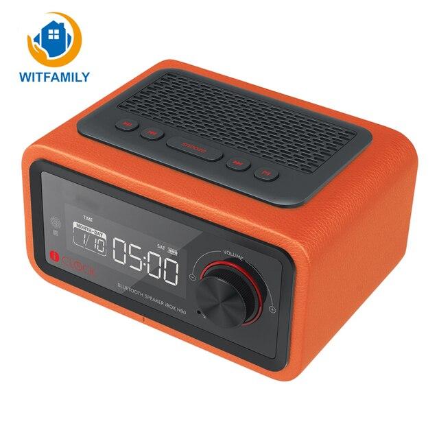 Mini Electronic Desktop Bluetooth Digital Radio Alarm Clocks Speaker LED Display Multimedia Card Smart Radio Alarm Clocks