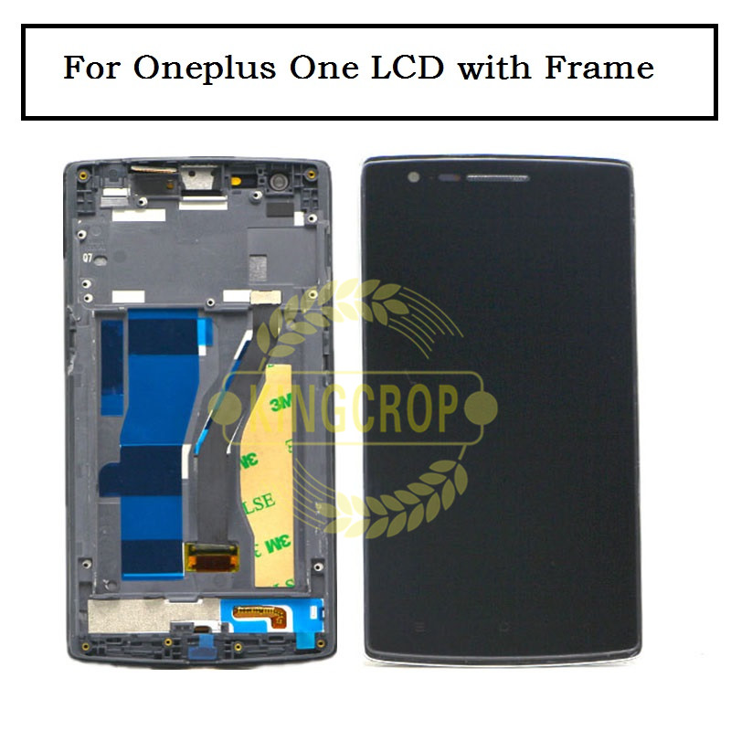 imágenes para Negro Pantalla LCD de Pantalla Táctil Digitalizador Asamblea + Frame + Herramientas para OnePlus Uno para Uno Más uno 1 + 1, envío libre + número de pista
