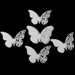 Image 2 - 50Pcs Wine Glass Name Place Card Butterfly Party Cards Table Mark Birthday Wedding Event Party Bar Decorations Party