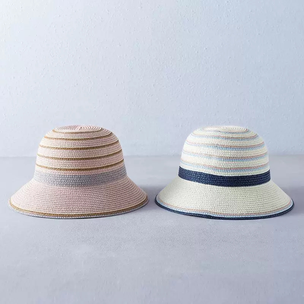 2019 new fashion women 39 s Summer hat Breathable sun hat Bucket cap embroidery straw hat Dome girl Beach cap outdoor travel Gorra in Women 39 s Sun Hats from Apparel Accessories