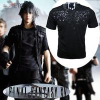 Hot Game Final Fantasy T Shirt Cosplay Costume Fashion Short Sleeve Tee Unisex Cotton Black O