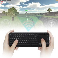 Nowy RC8 3-w-1 Mini 2.4G USB Wireless Keyboard Air Fly mysz Touchpad Pilot do Mini PC Android TV Box Hurtownie Dropshipping