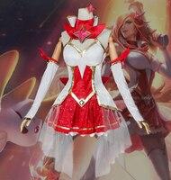 Косплей LOL Звездная защитница мисс Фортуна Косплэй костюм Хэллоуин равномерное День рождения женский костюм платье карнавальные костюмы
