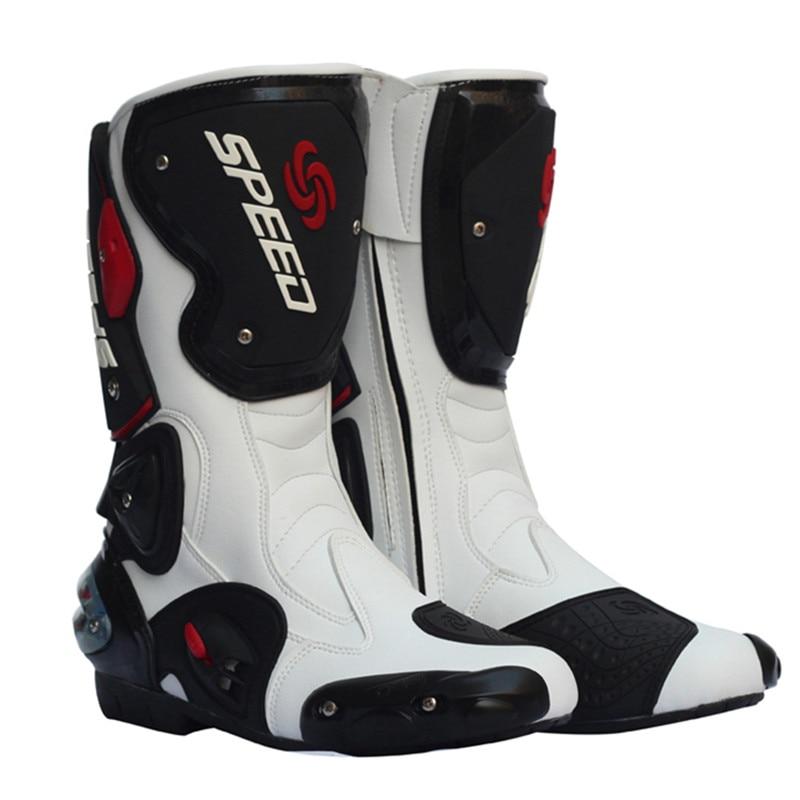 PRO-BIKER Motorcycle Boots SPEED Men Women Moto Racing Motocross Motorbike Motociclista Botas Shoes Black White Red B1001 speed line pro