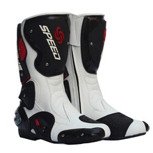 PRO-BIKER Motorcycle Boots SPEED Hombres Mujeres Motociclista Moto Racing Motocross Moto Botas Zapatos Negro Blanco Rojo B1001
