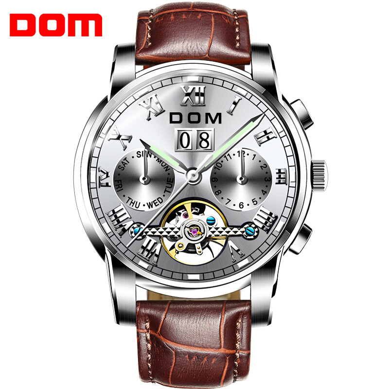 DOM Brand Mechanical Watches Sport Waterproof Luxury Fashion Wristwatch Relogio Masculino M-75L-7MDOM Brand Mechanical Watches Sport Waterproof Luxury Fashion Wristwatch Relogio Masculino M-75L-7M