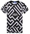 2016 Nuevos Hombres de Marca Famosa camisetas EE.UU. Estilo Europeo Campana por aire hba hip hop T-shirt camisa masculina tamaño M-XXL Envío Libre gratis