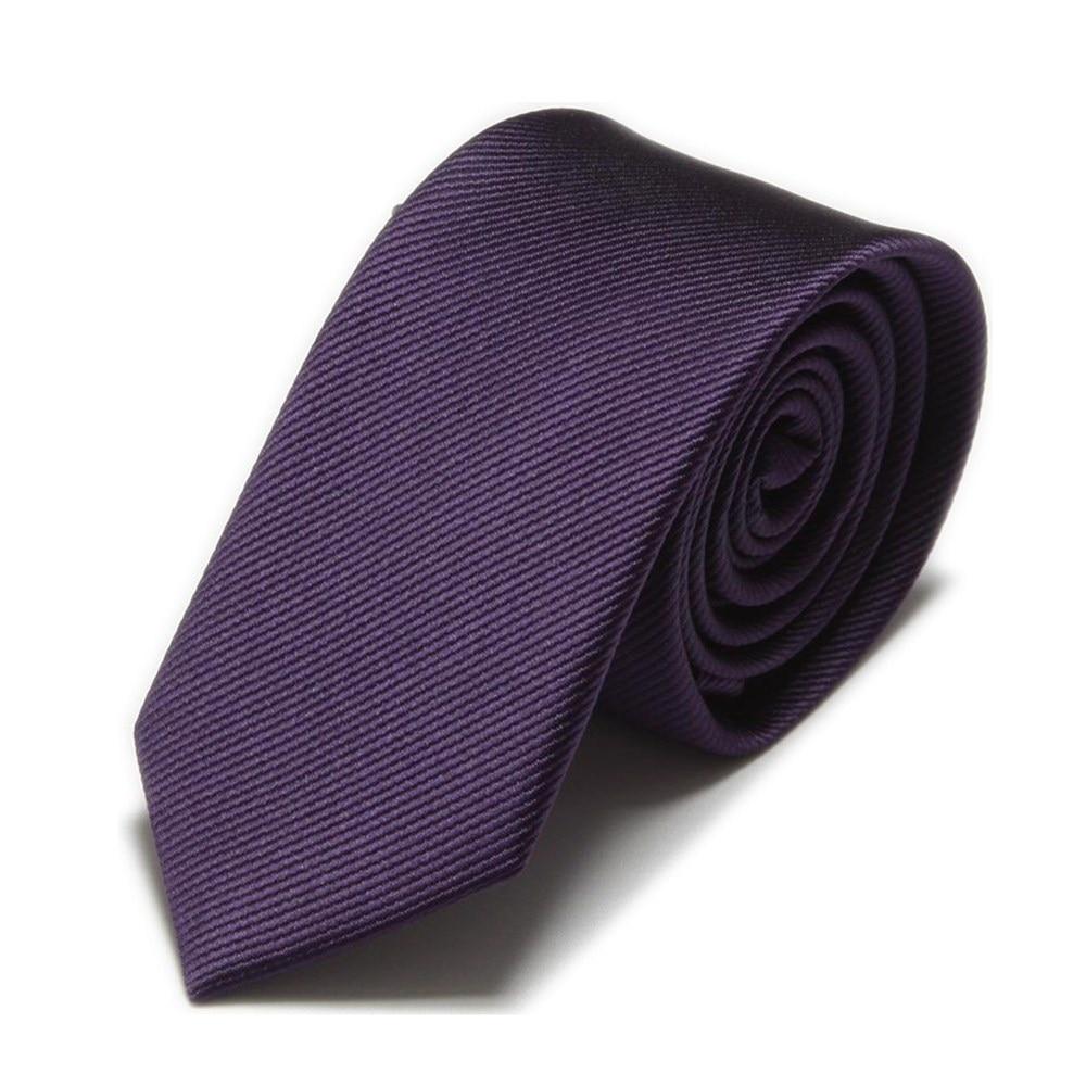 Men Slim Ties Novelty Mens Neck Tie Neckties Cravat Fashion Ascot Solid Color
