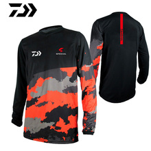 2019 New DAIWA Quick Drying Fishing Clothing Long Sleeve Sunscreen Anti-uv Breathable Summer Shirt Autumn Jersey