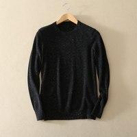 100% кашемира мужские Рождественский свитер с длинными рукавами и круглым вырезом свитера Европа Модные мужские свитера Повседневное осень/