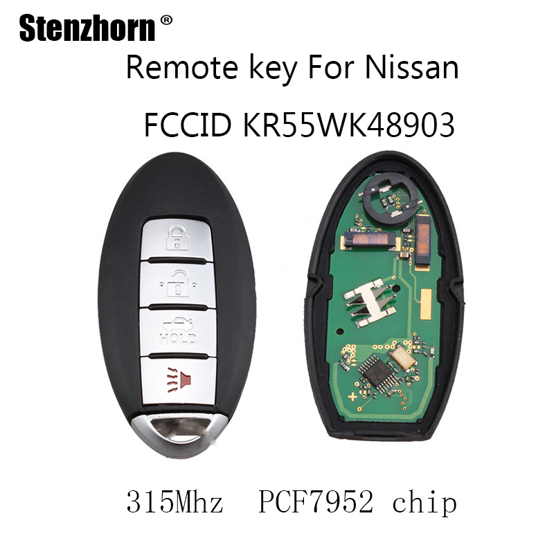 Stenzhorn 4 Пуговицы 315 мГц автомобиль дистанционного брелока DIY для Nissan Altima Максима Мурано 2007 2008 2009 2010 2011 2012 pcf7952 чип