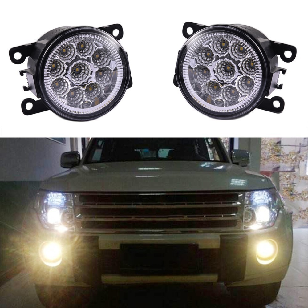 Car-styling DRL Fog Lamps Lighting LED Lights For Renault DUSTER LATITUDE LOGAN Laguna MEGANE 2/3/CC Saloon LS LM0 LM1 akd car styling for renault logan led fog light fog lamp logan led drl 90mm high power super bright lighting accessories