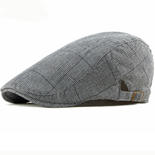 HT2426 Beret Cap Vintage Men Women Cap Spring Summer Plaid Sun Hat Adjustable Artist Painter Berets Casual Newsboy Ivy Flat Cap цена