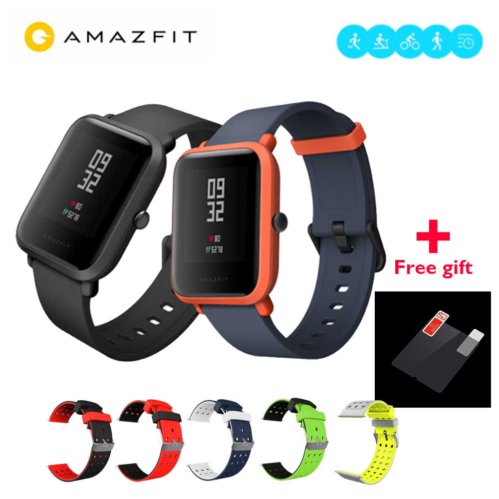 "[FREE] Global version Huami Amazfit BIP BIT PACE BEEP GPS IP68 Waterproof Youth Smart watch 1.28"" Color Screen Smartwatch"