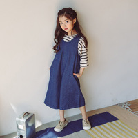 Kids Girls Jumpsuits 2019 koreya Baby Girl Jeans Overalls Denim Jumpsuit Bodysuits Girls elbise Fashion Sunsuits Outfit Clothes