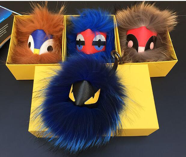 HOT 18cm KARLITO Karl Fur Bag Monster owl Bag Bugs Charm Keychain Plush Toys With dust cloth pompom key chain car keyring