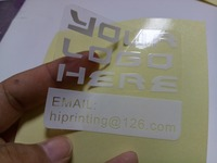 Transparent PVC Sticker Make Sample