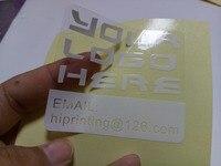 Transparent PVC Sticker Make Sample