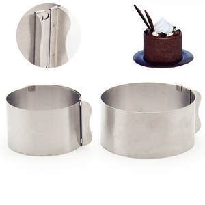 Dish-Tools Ring-Dishes Mold Cake-Circle-Ring Baking-Cake-Mould Adjustable Bakeware Stainless-Steel